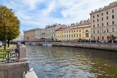 Обваловка Moika в Санкт-Петербурге Стоковое Изображение RF