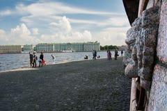Обваловка Neva, Санкт-Петербург, Россия Стоковая Фотография RF