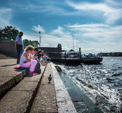 Обваловка Neva, Санкт-Петербург, Россия Стоковая Фотография