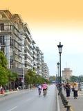 Обваловка Thessaloniki задействуя гонки Стоковое Фото