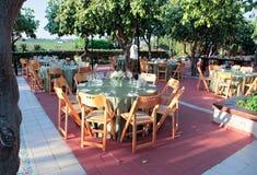 обедать большое напольное венчание таблицы комплекта Стоковая Фотография RF