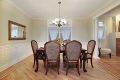 обедать домашняя роскошная комната Стоковая Фотография