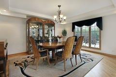 обедать домашняя роскошная комната Стоковые Изображения