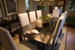 обедать домашняя роскошная комната Стоковое Фото