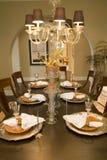 обедать домашняя роскошная таблица Стоковое Изображение