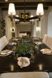 обедать домашняя роскошная таблица Стоковая Фотография RF