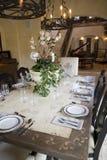 обедать домашняя роскошная таблица Стоковые Фотографии RF
