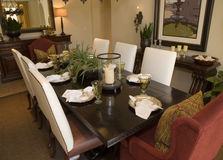 обедать домашняя роскошная таблица Стоковое фото RF