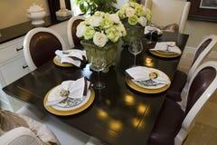 обедать домашняя роскошная таблица Стоковая Фотография