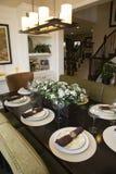 обедать домашняя роскошная таблица Стоковое Изображение RF