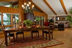 обедать древесина комнаты s любовника мечты Стоковое фото RF