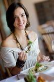 Обедать женщины Стоковая Фотография
