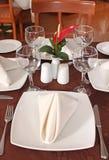 обедать отлично установленная таблица Стоковое фото RF