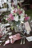 обедать отлично установленные таблицы wedding Стоковое фото RF