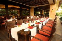 обедать роскошный ресторан стоковое фото