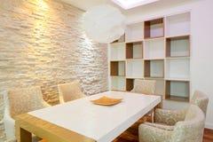 обедать самомоднейшая комната Стоковая Фотография