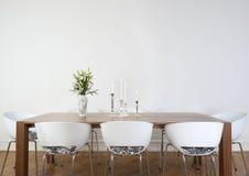 обедать самомоднейшая комната Стоковые Изображения RF