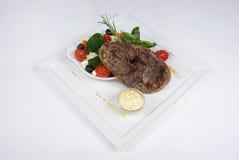 обедать точная плита еды Стоковое Фото