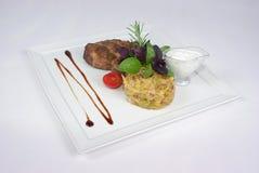 обедать точная плита еды Стоковое Изображение RF