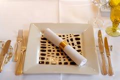 обедать установленная таблица Стоковое фото RF