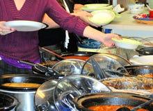 Обедающий potluck макаронных изделий Стоковая Фотография RF