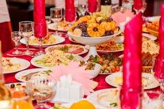 Обедая таблица для венчания Стоковая Фотография