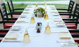 обедая таблица Стоковая Фотография RF