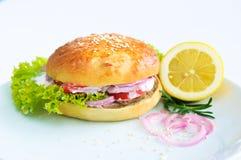 обеденное время бургера Стоковое Изображение RF
