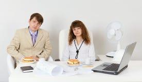обед бизнесменов подготовляет Стоковое Изображение RF