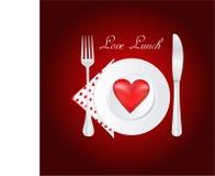 обед влюбленности Иллюстрация вектора