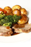 обед говядины Стоковое Изображение