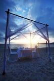 обед пляжа романтичный Стоковая Фотография