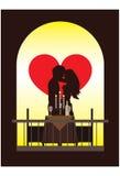 обед романтичный иллюстрация вектора