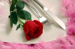 обед романтичный Стоковое Фото