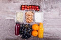 Обед упакованный в различных коробках Стоковая Фотография RF