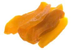 обезвоженный изолированный отрезанный манго Стоковое Изображение RF