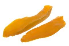 обезвоженный изолированный отрезанный манго Стоковые Фото