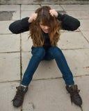 обезумевшая девушка Стоковые Фото