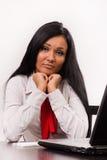 Обезумевшая девушка офиса Стоковое Фото