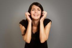 Обезумевшая печальная молодая женщина Стоковое Фото