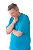 обезумевший человек возмужалый Стоковое фото RF