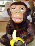Обезьяна банана Стоковое Изображение