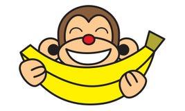 Обезьяна банана Стоковые Изображения