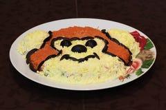 Обезьяна, блюдо, вид спереди Стоковое фото RF