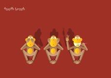 обезьяна 1-the 3-ее Стоковое Изображение RF