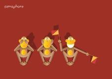 обезьяна 48-the 3-ее Стоковое Изображение