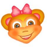 обезьяна икон подставного лица emoticons иллюстрация вектора