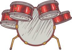 Обезьяна и барабанчики Стоковые Фото