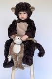 обезьяна мальчика Стоковое Фото