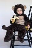 обезьяна мальчика Стоковые Фотографии RF